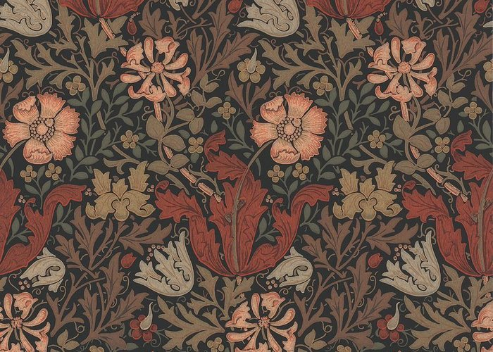 William Greeting Card featuring the tapestry - textile Compton Design by Philip Ralley