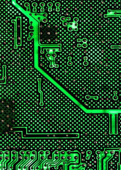Computer Greeting Card featuring the photograph Computer Circuit Board by Olivier Le Queinec