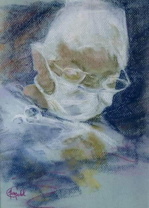 Medical Greeting Card featuring the painting Concentration by Janice Gell