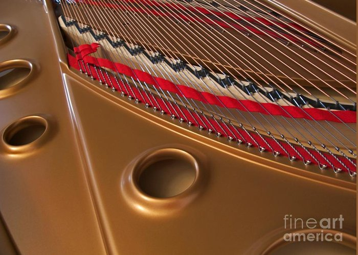 Piano Greeting Card featuring the photograph Concert Grand by Ann Horn