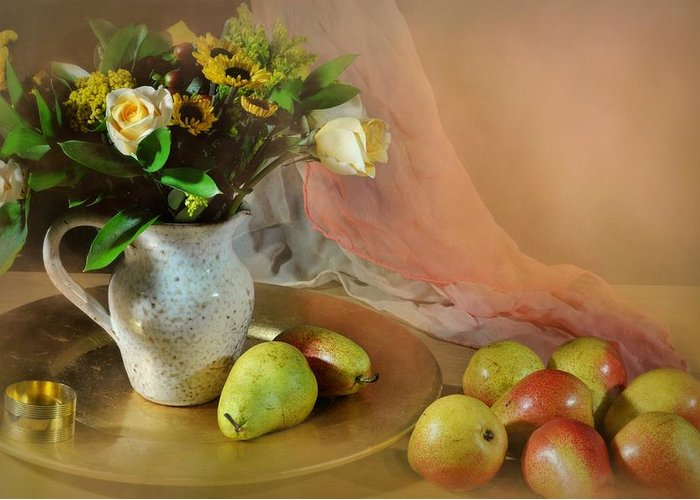 Still Life Greeting Card featuring the photograph Concerto by Diana Angstadt