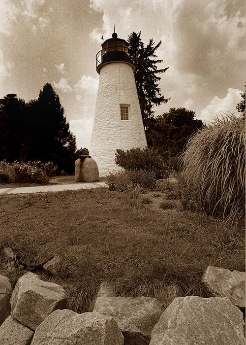 Lighthouse Greeting Card featuring the photograph Concord Point Lighthouse by Skip Willits