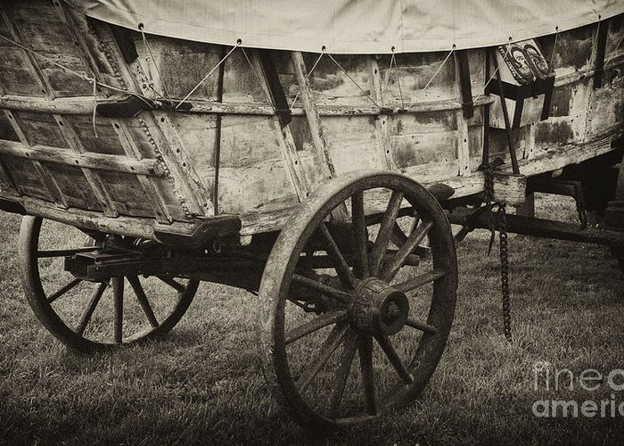 Conestoga Greeting Card featuring the photograph Conestoga Wagon by Paul W Faust - Impressions of Light