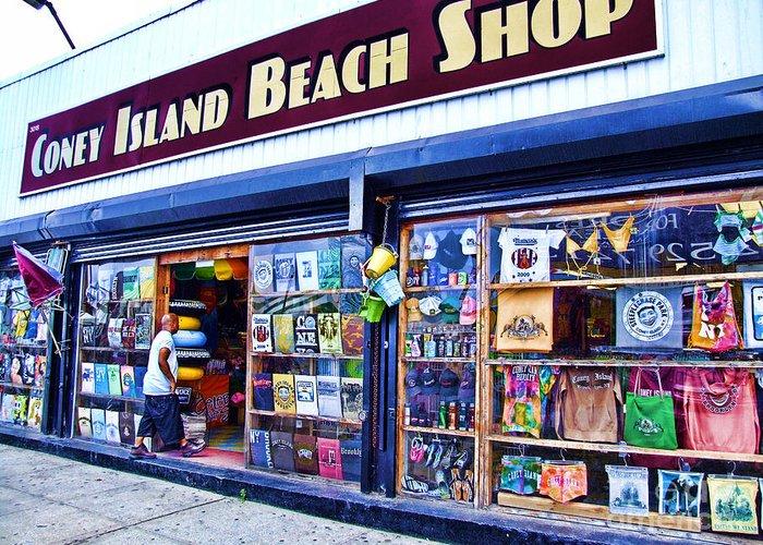 Coney island beach shop greeting card for sale by nishanth gopinathan coney island greeting card featuring the photograph coney island beach shop by nishanth gopinathan m4hsunfo