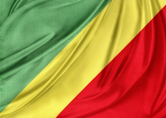 Background Greeting Card featuring the photograph Congo Flag by Les Cunliffe