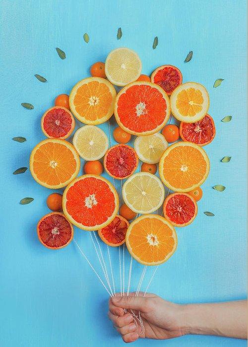 Grapefruit Greeting Cards