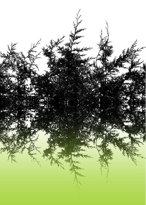 Conifer Greeting Card featuring the digital art Conifer Lime by Sharon Lisa Clarke