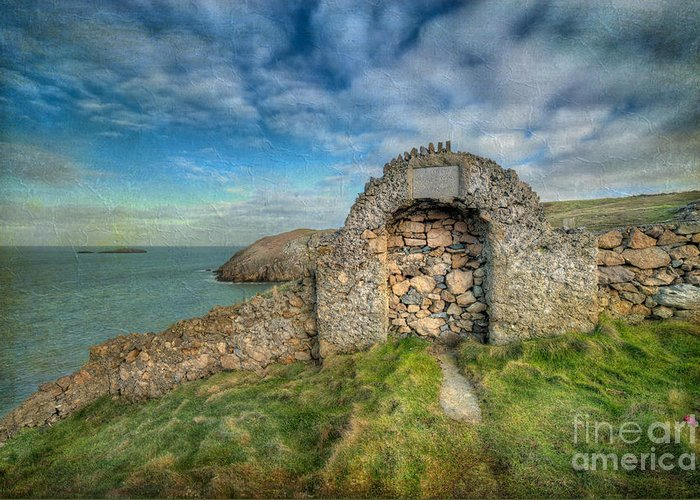 Anglesey Greeting Card featuring the photograph Consecrated 1535 by Adrian Evans