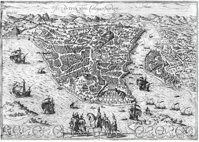 1576 Greeting Card featuring the photograph Constantinople, 1576 by Granger