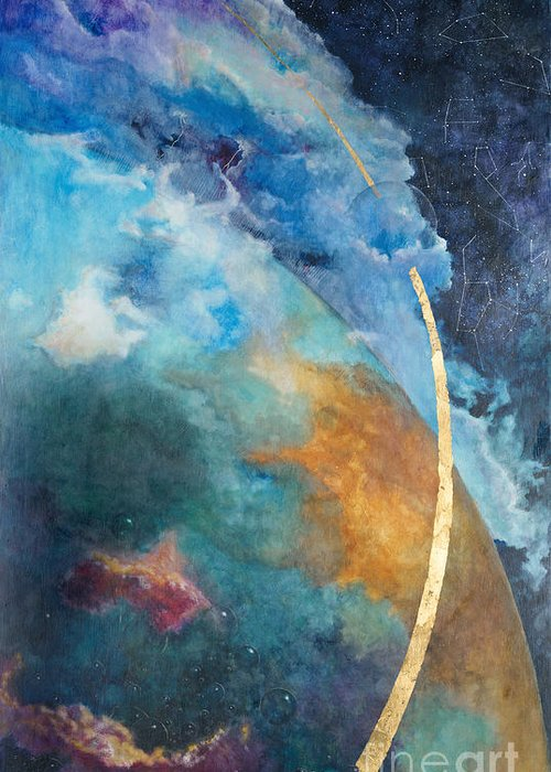 Sky Greeting Card featuring the painting Constellations by Cheryl Myrbo