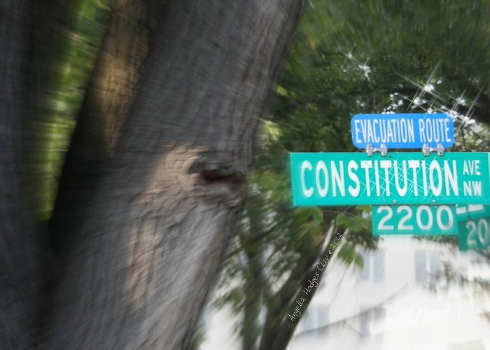 Arlington Greeting Card featuring the digital art Constitution Ave 2200 by Angelia Hodges Clay