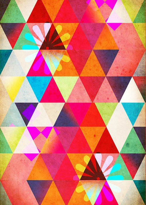 Surreal Geometric Digital Art Greeting Cards