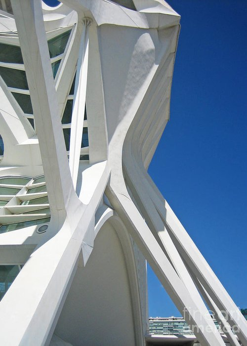 Building Greeting Card featuring the photograph Contemporary Architecture In Valencia by Silvia Di Falco