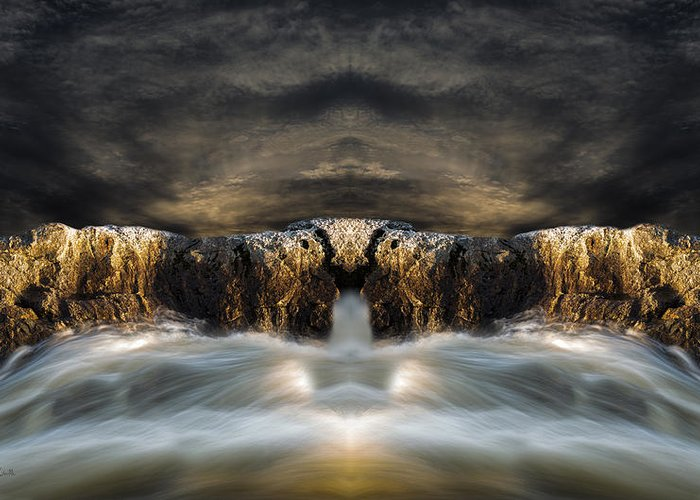 Seascape.landscape Greeting Card featuring the photograph Convergence by Bob Orsillo