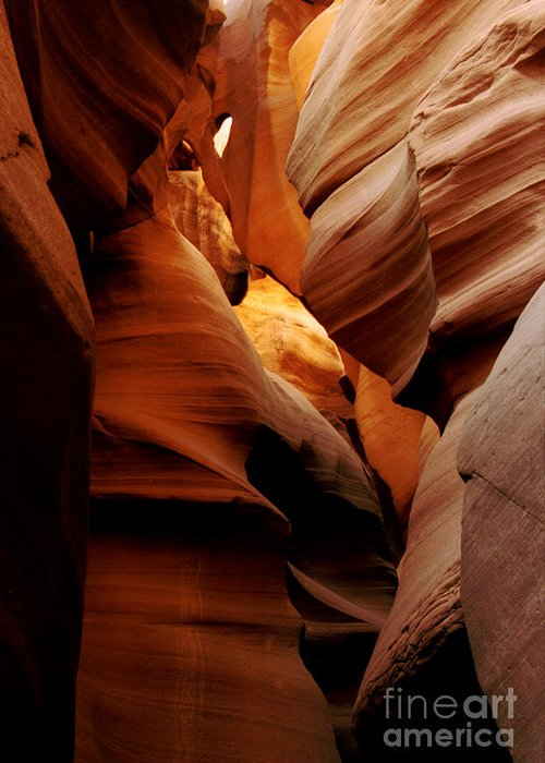 Antelope Canyon Greeting Card featuring the photograph Convolusions by Kathy McClure