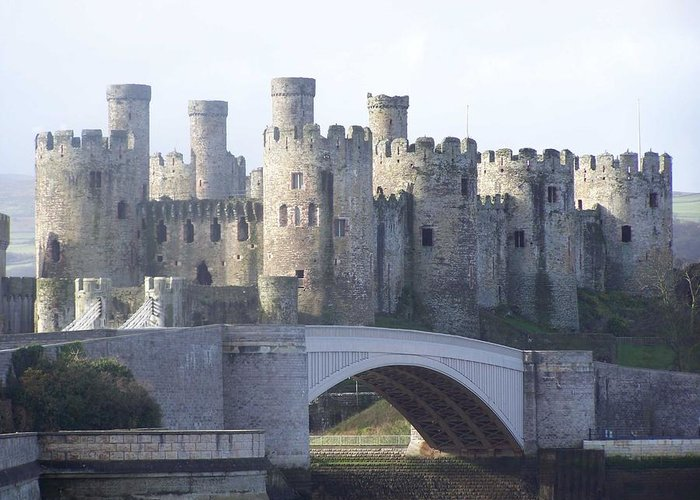 Castles Greeting Card featuring the photograph Conwy Castle by Christopher Rowlands