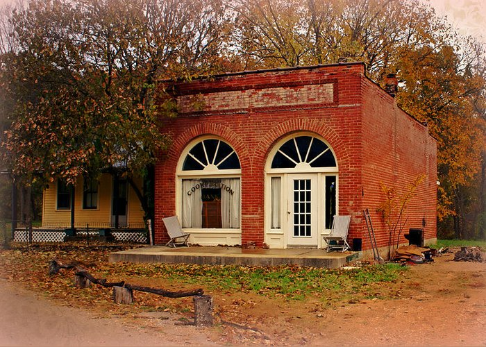 Cook Station Greeting Card featuring the photograph Cook Station Bank by Marty Koch