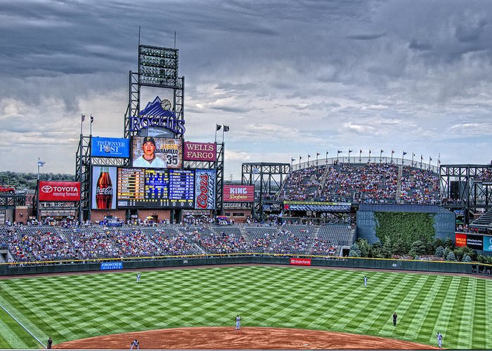 Coors Field Greeting Card featuring the photograph Coors Field by Ron White