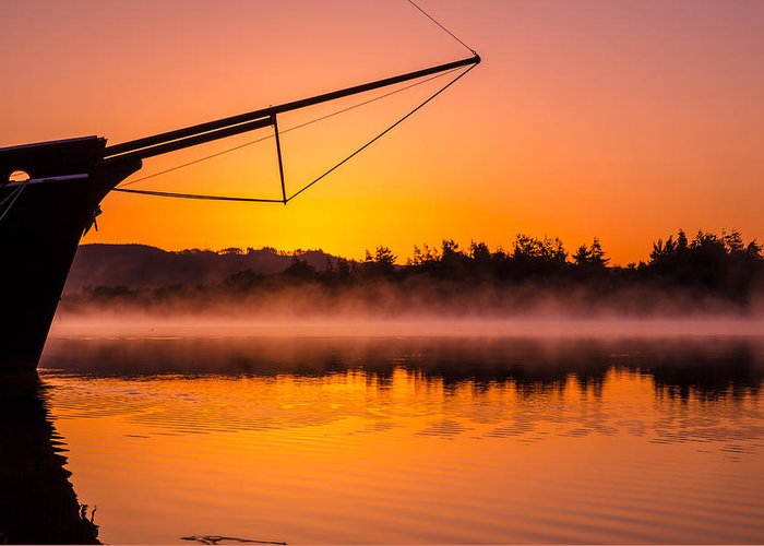 Sunrise Greeting Card featuring the photograph Coos Bay Sunrise II by Robert Bynum