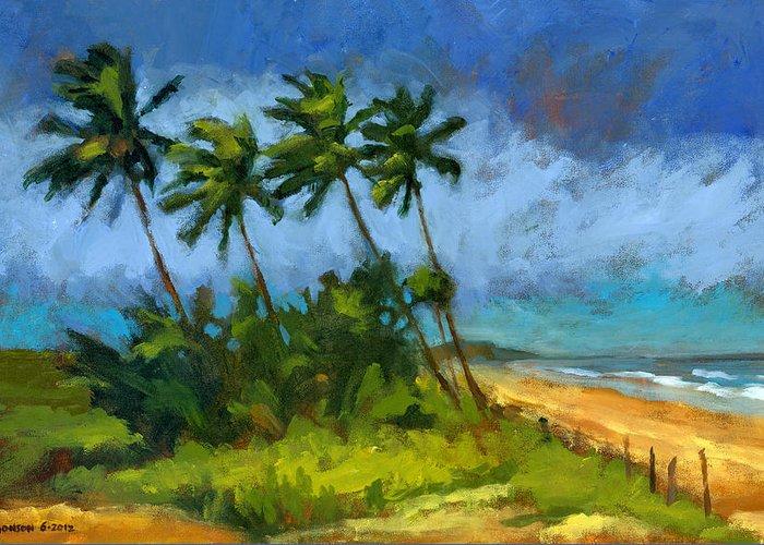 Windblown Paintings Greeting Cards