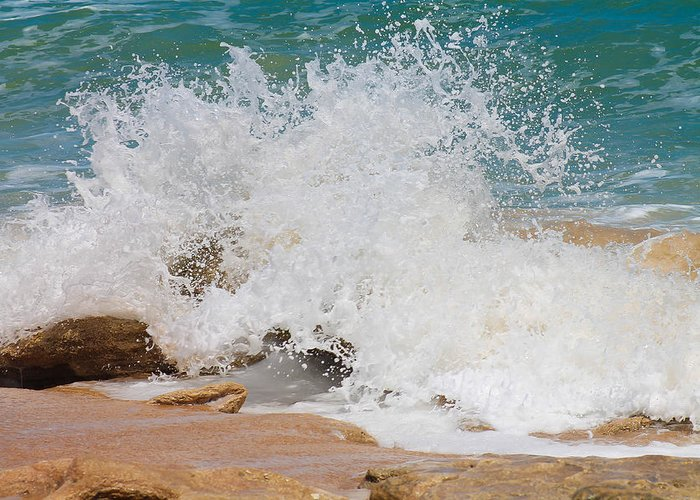 Water Greeting Card featuring the photograph Coquina Waves by Jessica Brown