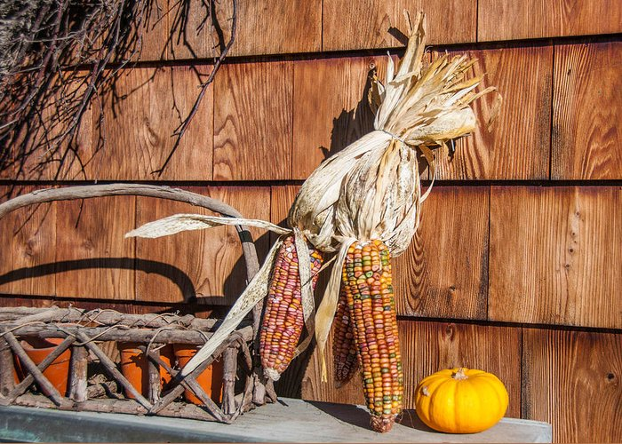 Barn Greeting Card featuring the photograph Corn by Guy Whiteley