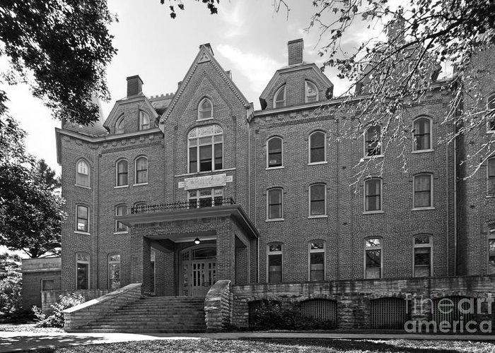 Bowman Hall Greeting Card featuring the photograph Cornell College Bowman Carter Hall by University Icons