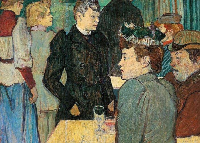 Art Greeting Card featuring the painting Corner Of Moulin De La Galette by Henri de Toulouse Lautrec