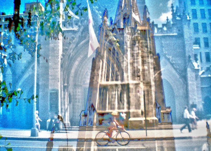 Grace Church Greeting Card featuring the photograph Corners-broadway And 11th by Rebecca MB Pearson