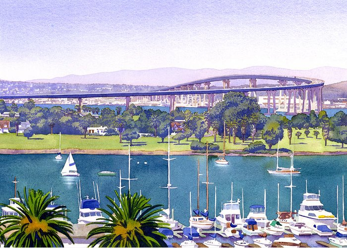 Coronado Bay Bridge Greeting Cards