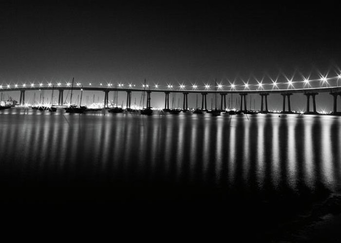 San Diego Greeting Card featuring the photograph Coronado Bay Bridge by Ryan Weddle