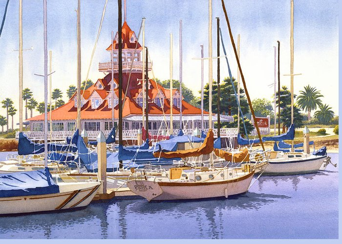 Yachts Greeting Cards