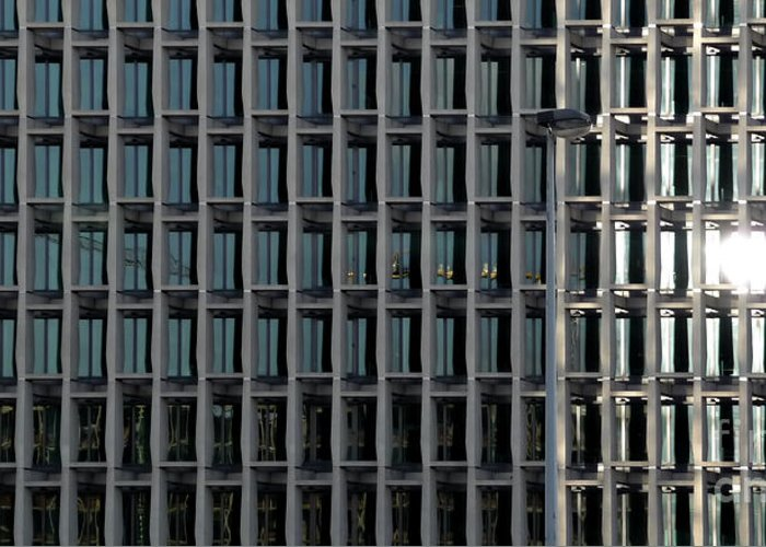 Abstract Greeting Card featuring the photograph Corporate Reflection by Zoran Berdjan