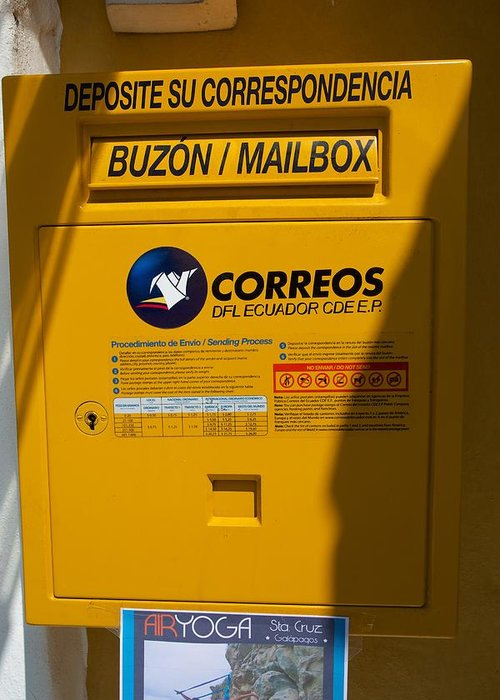 Mailbox Greeting Card featuring the photograph Correos by Allan Morrison