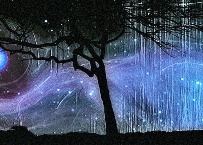 Cosmic Night Greeting Card featuring the photograph Cosmic Night by Linda Sannuti