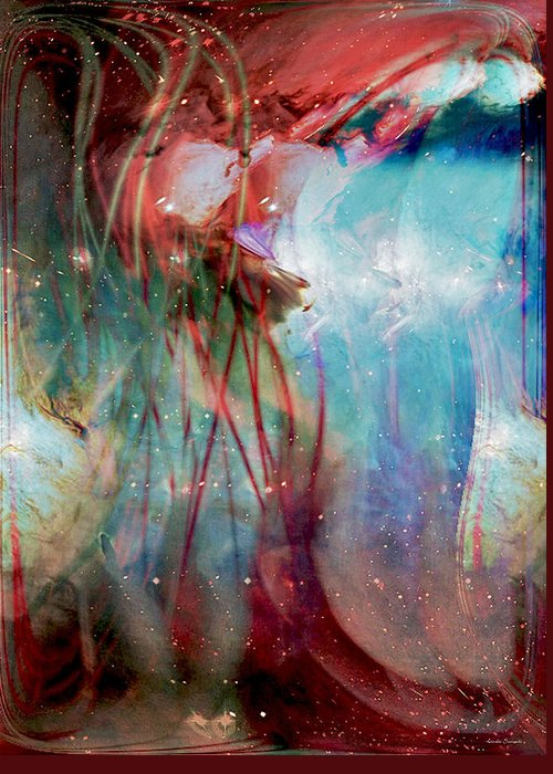 Cosmic String Greeting Card featuring the digital art Cosmic String by Linda Sannuti
