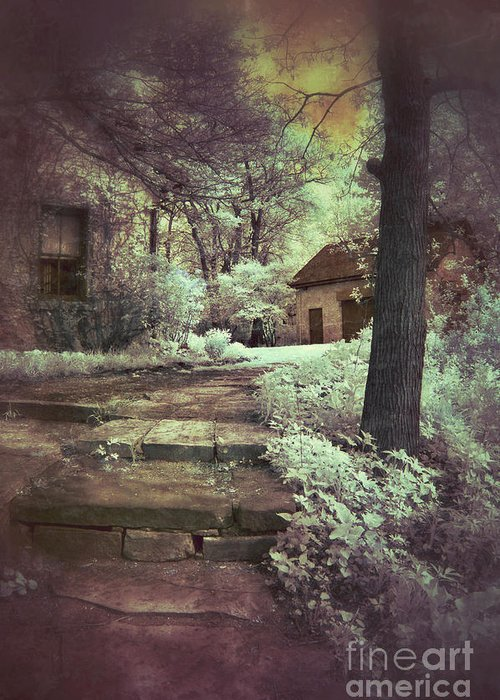 Cabin Greeting Card featuring the photograph Cottages In The Woods by Jill Battaglia