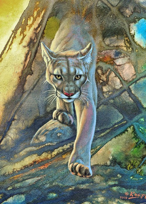 Mountain Lion Greeting Cards