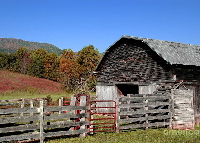 Photograph Greeting Card featuring the photograph Country Barn by Jeff McJunkin