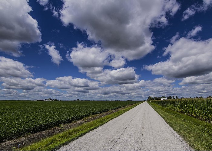 Landscape Greeting Card featuring the photograph Country Clouds by Jake Thompson