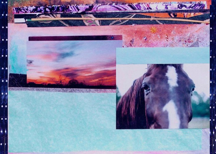 Horse Greeting Card featuring the photograph Country Collage 4 by Mary Ann Leitch