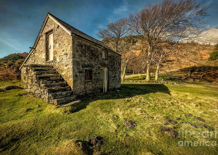 Hdr Greeting Card featuring the photograph Country Cottage by Adrian Evans