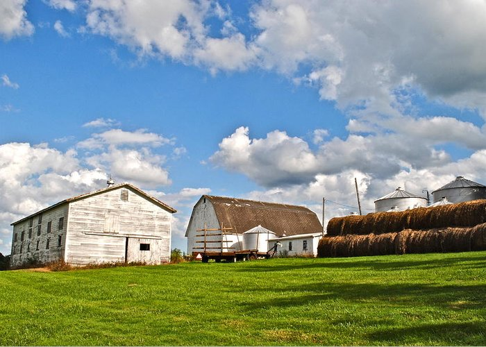 Country Greeting Card featuring the photograph Country Farm by Frozen in Time Fine Art Photography