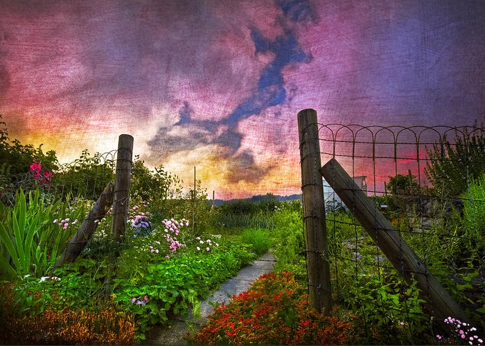 Appalachia Greeting Card featuring the photograph Country Garden by Debra and Dave Vanderlaan