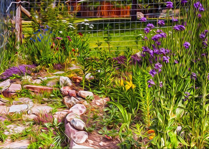 North Cascades Greeting Card featuring the painting Country Garden by Omaste Witkowski