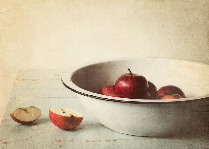 Apple Greeting Card featuring the photograph Country Morning by Amy Weiss