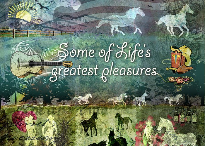 Country Greeting Card featuring the digital art Country Pleasures by Evie Cook