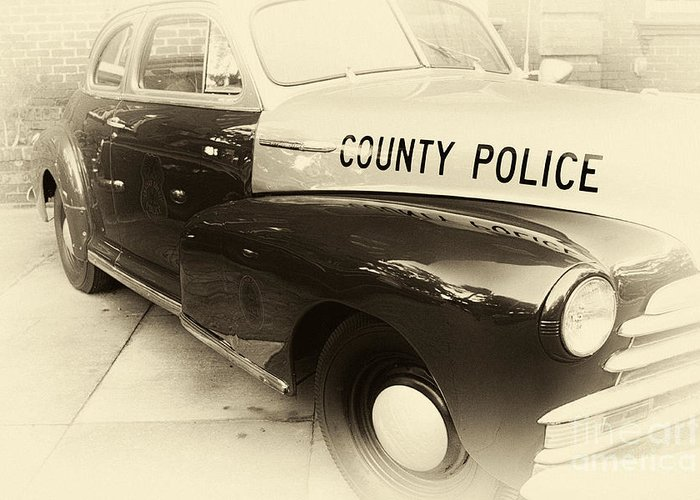 County Police Antique Toned Greeting Card featuring the photograph Country Police Antique Toned by John Rizzuto