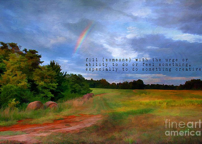 Atmosphere Greeting Card featuring the photograph Country Rainbow by Darren Fisher