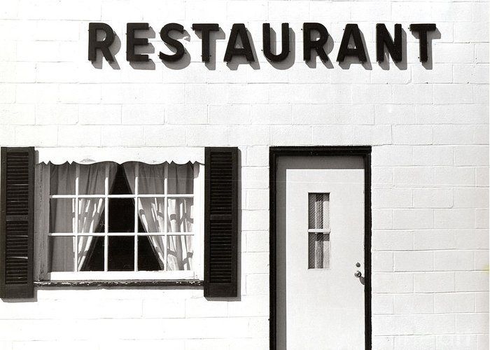 Restaurant Greeting Card featuring the photograph Country Restaurant by Thomas Marchessault